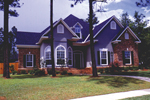 Traditional Southern Home Has Stylish Gable Design And Bay Window