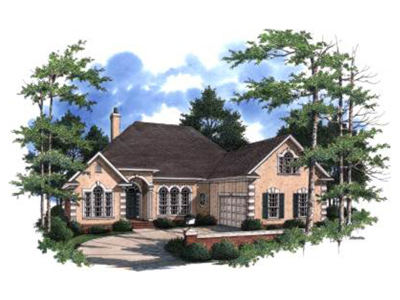European House Plan Front Photo 02 024D-0595