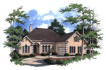Ranch House Plan Front Photo 02 - 024D-0595 | House Plans and More