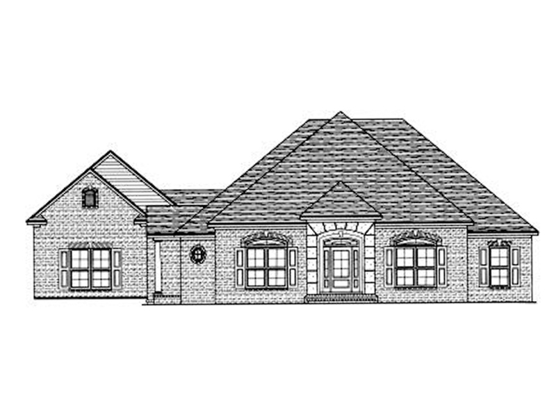Traditional House Plan Front of Home - 024D-0596 | House Plans and More