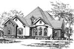Country French Charm Is Perfectly Displayed With This House Plan's Facade
