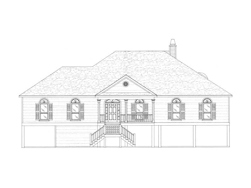 Beach & Coastal House Plan Front of Home - 024D-0611 | House Plans and More