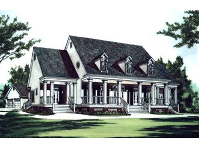 Green Hills Plantation Home Plan 024D-0623 | House Plans ...