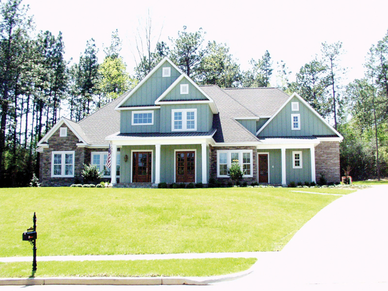 Arts and Crafts House Plan Front of Home 024D-0644