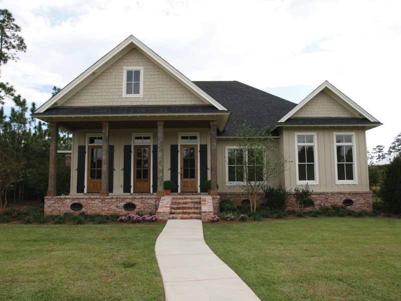 Country French Home Plan Front of Home 024D-0795