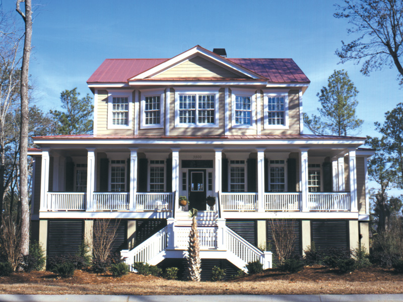 Lowcountry Home Plan Front of Home 024S-0001
