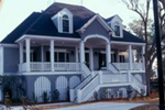 Raised Lowcountry Style Home With Covered Front Porch