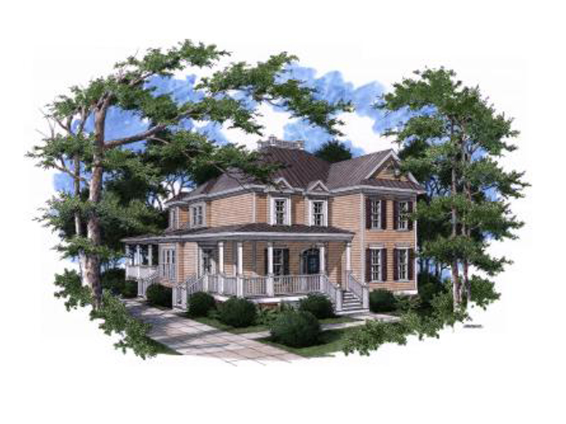 Southern House Plan Front of Home - 024S-0004 | House Plans and More