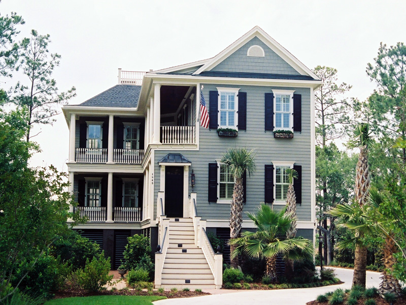 plantation home with low country style