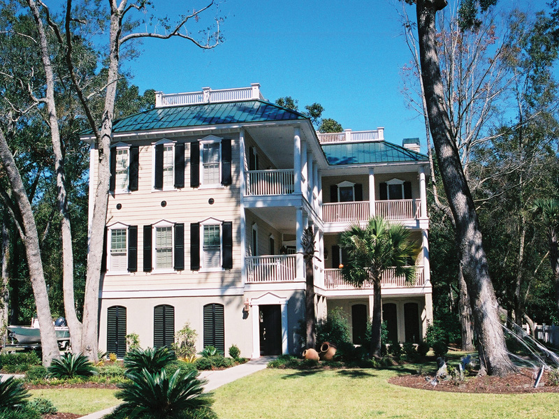 Two-Story Raised Plantation Home With Multiple Level Wrap-Around Porches