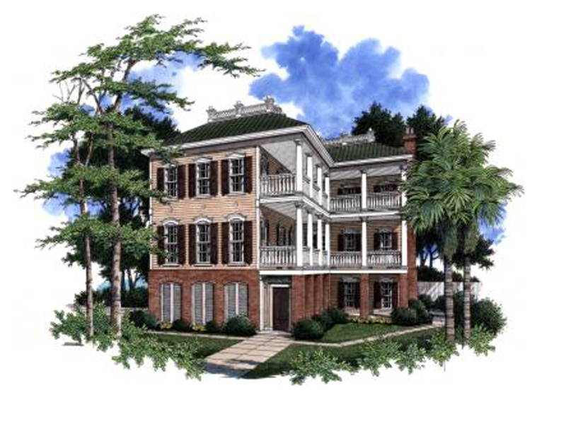 Plantation House Plan Front Image - 024S-0015 | House Plans and More