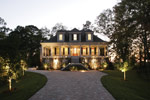 Colonial House Plan Front Night Photo - 024S-0021 | House Plans and More