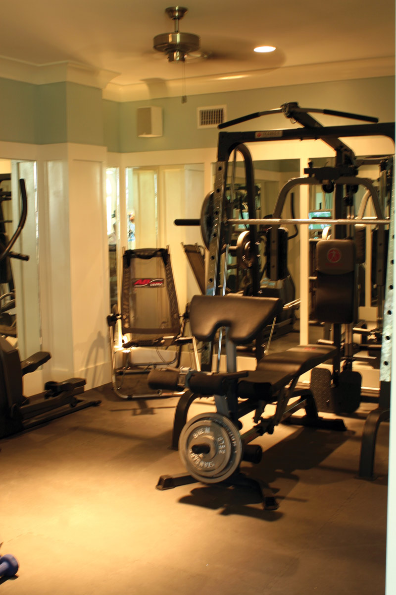 Cape Cod and New England Plan Workout Room Photo 024S-0022