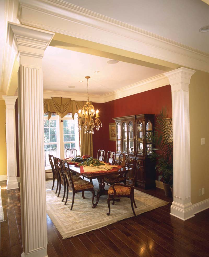 Dining rooms with columns room ornament for Dining room or dinning room