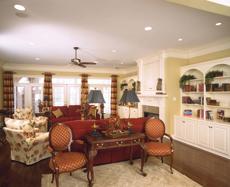 Colonial Floor Plan Living Room Photo 01 024S-0023