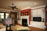 Country French House Plan Family Room Photo 01 - 024S-0025 | House Plans and More