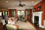 Country French Home Plan Family Room Photo 02 - 024S-0025 | House Plans and More