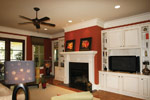 Waterfront Home Plan Living Room Photo 02 - 024S-0025 | House Plans and More