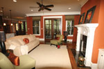 Country French Home Plan Living Room Photo 04 - 024S-0025 | House Plans and More