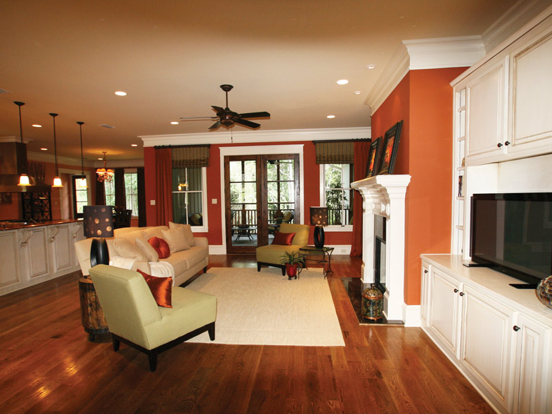 Country French Home Plan Living Room Photo 07 024S-0025