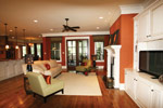 Waterfront Home Plan Living Room Photo 07 - 024S-0025 | House Plans and More