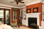 Country French Home Plan Living Room Photo 08 024S-0025