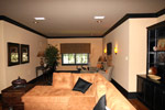 Arts and Crafts House Plan Media Room Photo 02 - 024S-0025 | House Plans and More
