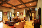 Waterfront Home Plan Living Room Photo 01 - 024S-0026 | House Plans and More
