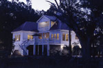 Waterfront Home Plan Rear Night Photo - 024S-0037 | House Plans and More