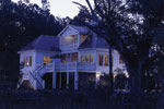 Colonial Floor Plan Rear Night Photo 01 - 024S-0037 | House Plans and More