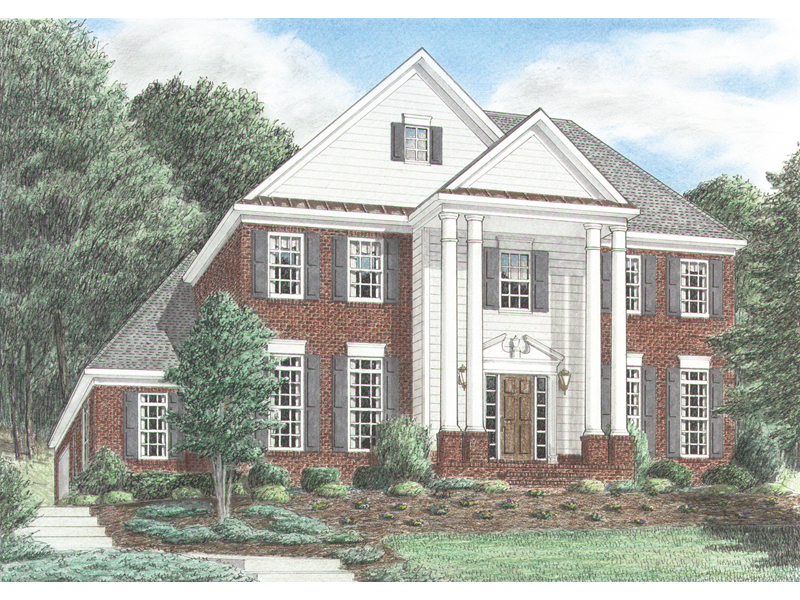 Rockdale Colonial Georgian Home Plan 025d 0029 House