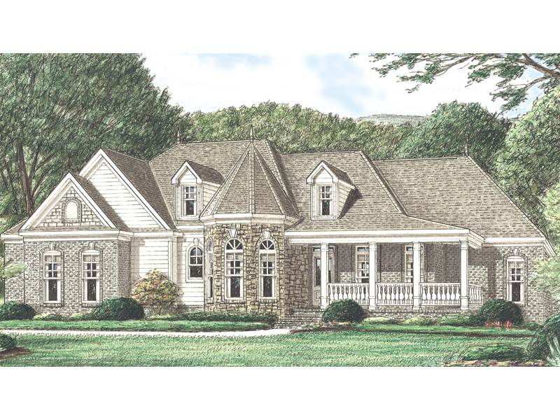 Country House Plan Front of Home 025D-0033