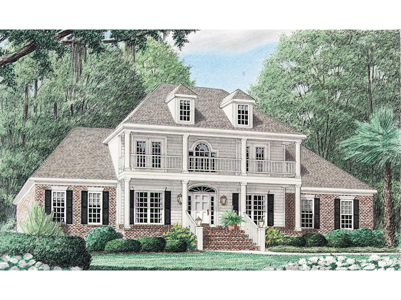 Van Birkelle Plantation Home Plan 025D 0052 House Plans And More