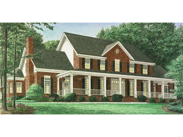 Hindmann southern farmhouse plan 025d 0059 house plans for Farmhouse two story house plans