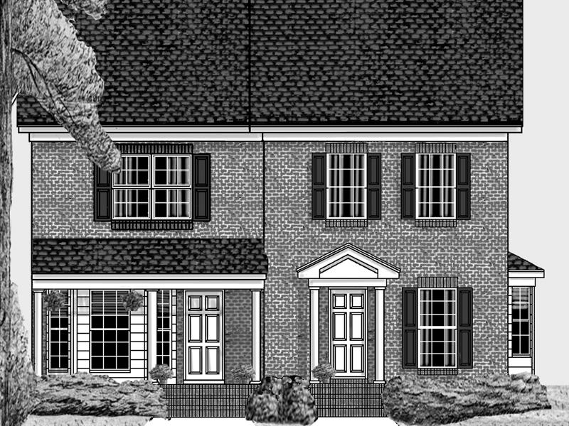 Confederate two story duplex plan 025d 0060 house plans for Townhouse duplex plans