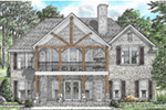 Traditional House Plan Rear Photo 01 - 025D-0107 | House Plans and More