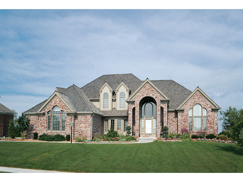 Luxury Two Story Home With Stunning Arched Entrance