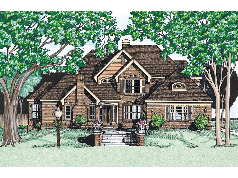 Traditional House Plan Front of Home 026D-0133