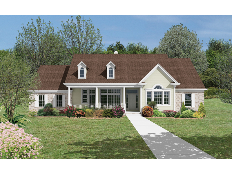 Hartley Cape Cod Country Home Plan D    House Plans and MoreCape Cod  New England Style Lavishes This Country Ranch