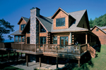 Risen, Rustic Log Home With Mountainous Style
