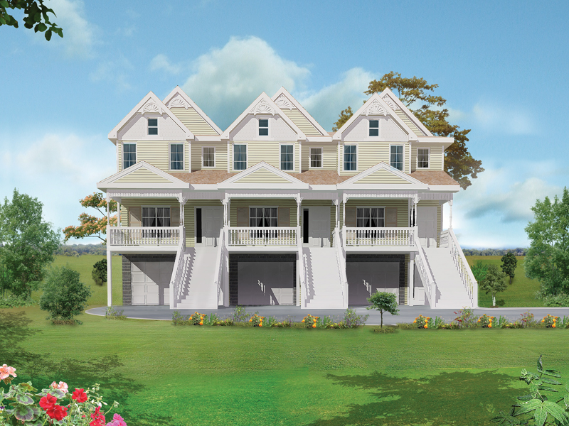 marydel multi-family triplex plan 026d-0146 | house plans and more