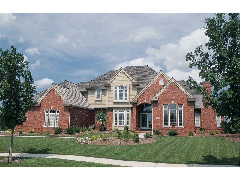 Master Traditional Home With Brick Front