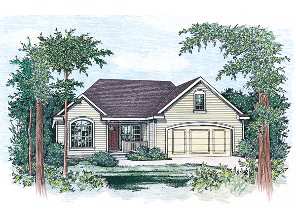 Holloway terrace ranch home plan 026d 0200 house plans for House plans with hip roof styles