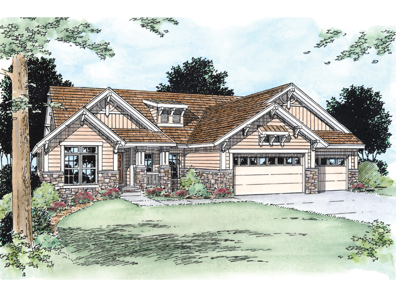 Sunny Hill Craftsman Ranch Home Plan 026d 0293 House