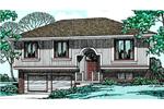 Split-Level House Has Well Designed Facade