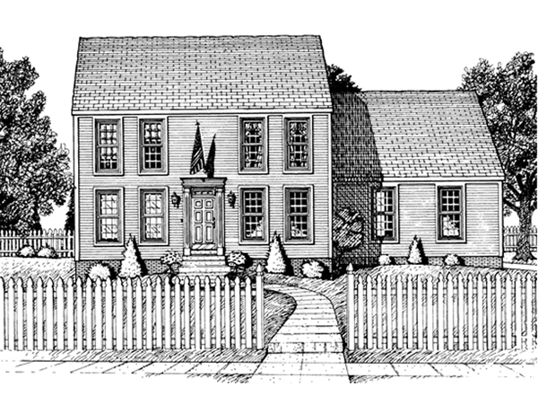 Marquez early american home plan 026d 0856 house plans for Early american house plans