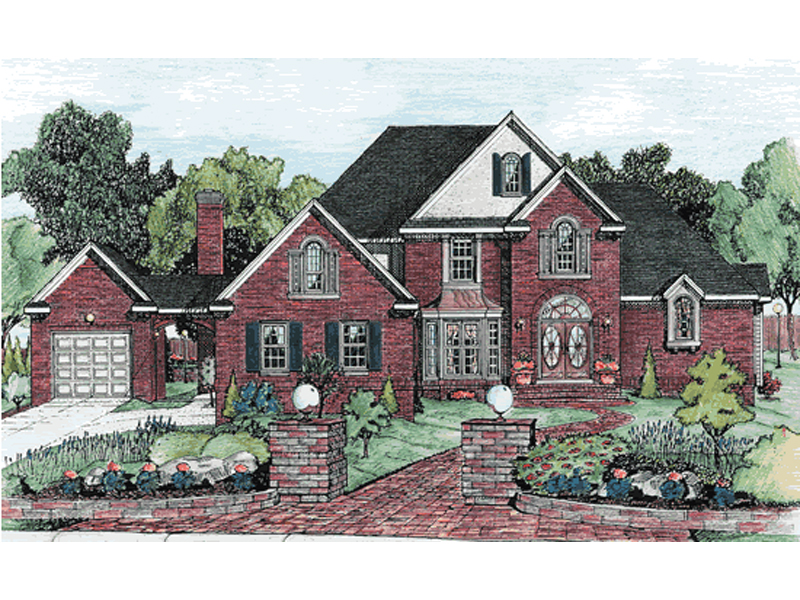 Burgess manor luxury brick home plan 026d 0873 house for Luxury brick house plans