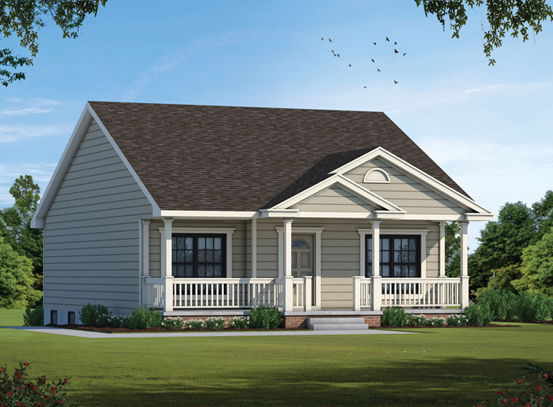Treeside narrow lot home plan 026d 0972 house plans and more for Narrow ranch house plans