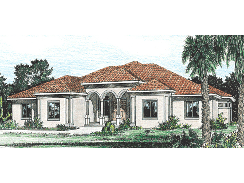 Burdella stucco home plan 026d 0994 house plans and more for Stucco home plans