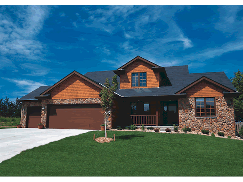 Rustic Home Plan Front of Home 026D-1081